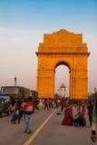 delhi nya india Den indiska porten Arkivfoto