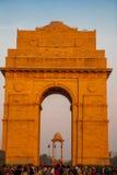 delhi nya india Den indiska porten Royaltyfri Bild