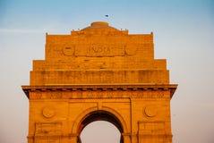 delhi nya india Den indiska porten Arkivfoton