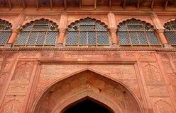 delhi sławna fortu czerwień Obrazy Stock