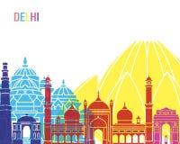 Delhi skyline pop Royalty Free Stock Photography