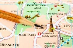 Delhi-Stadtplan Stockfotos