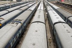 Delhi Train Station Royalty Free Stock Image