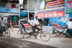Delhi young rickshaw Royalty Free Stock Photography