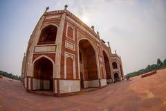 DELI, ÍNDIA - 19 DE SETEMBRO DE 2017: Feche acima do túmulo de Humayun s, Deli, Índia, ele é o túmulo do imperador de Mughal Fotografia de Stock Royalty Free
