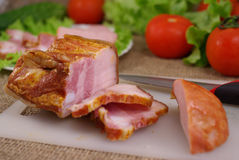 Deli meats with vegetables Stock Photos