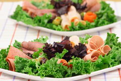 Deli platter. Party plate full of color and flavor catering presentation Royalty Free Stock Photography