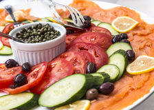 Deli platter of food Royalty Free Stock Photos
