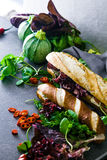Deli sandwich with vegetables Stock Photo