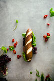 Deli sandwich with vegetables Royalty Free Stock Photography