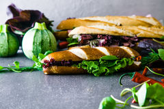 Deli sandwich with vegetables Stock Photography