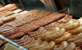 Deli sausages Royalty Free Stock Images