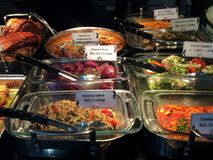Deli scene 1. Salads and savouries Royalty Free Stock Photography