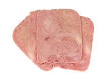 Deli Sliced Ham Overhead View Stock Photography