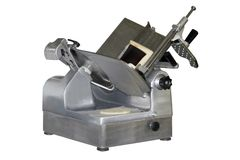 Deli Slicer. A deli slicer over a white background Royalty Free Stock Photos
