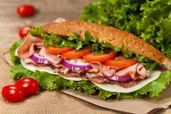 Deli sub sandwich stock photos