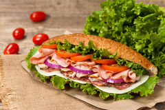 Deli sub sandwich Royalty Free Stock Images