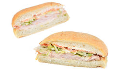 Deli Turkey Sandwich Royalty Free Stock Photo