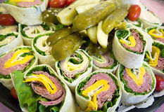 Deli Wraps Royalty Free Stock Photos