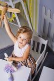 Delia konzentrierte sich Stockbilder
