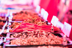 Delicacies on food market Royalty Free Stock Photography