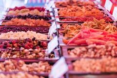 Delicacies on food market Stock Image