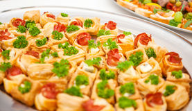 Delicacies and snacks at a buffet or Banquet. Catering Royalty Free Stock Images