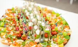 Delicacies and snacks at a buffet or Banquet. Catering Stock Images