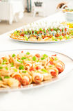 Delicacies and snacks at a buffet or Banquet. Catering. Royalty Free Stock Image