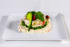 Delicacy appetizer of acidified sheep cheese Royalty Free Stock Image