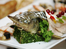 Delicacy from fish Royalty Free Stock Photography