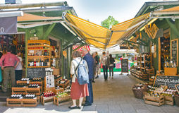 Delicacy and grocery shops at Viktualien markt, Munich Royalty Free Stock Photography