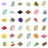 Delicacy icons set, isometric style. Delicacy icons set. Isometric style of 36 delicacy vector icons for web isolated on white background Royalty Free Stock Photo