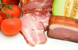 Delicacy mellon ham and tomato Royalty Free Stock Photo