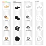 Delicacy, treats, product and other web icon in cartoon style.Nut, cashew,macadamia, icons in set collection. Delicacy, treats, product and other  icon in Royalty Free Stock Photo