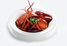 Delicadeza de la sopa de la langosta Foto de archivo libre de regalías