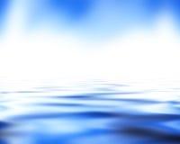 Delicatamente onde del blu Fotografie Stock