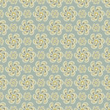 Delicate abstract flowers on gray background seamless pattern vector illustration Stock Images