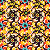 Delicate abstract flowers seamless pattern Stock Images