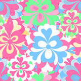 Delicate abstract flowers seamless pattern Stock Image