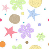 Delicate Abstract Flowers Seamless Pattern Stock Photography