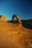 Delicate arch_2. Delicate arch at sunset light,  clear sky. Arches National park, Utah USA Royalty Free Stock Photography