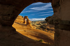 Delicate arch. Royalty Free Stock Image