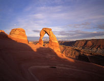 Delicate Arch. Sandstone arch in Arches National Park, Utah royalty free stock photography