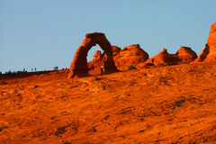 Delicate arch. The Delicate Arch at Aches National Park in Utah Stock Image