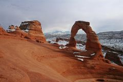 Delicate Arch in Arches National Park. Near Moab in Utah Royalty Free Stock Image