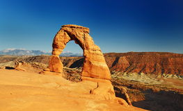 Delicate arch at arches national park Stock Image