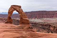Delicate Arch in Arches National Park. Moab, Utah, USA Royalty Free Stock Images