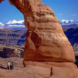 Delicate Arch in Arches National Park royalty free stock images
