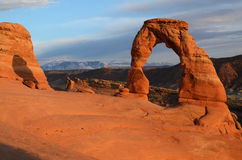 Delicate Arch in Arches National Park. Late Day Light on Delicate Arch in Arches National Park Royalty Free Stock Images
